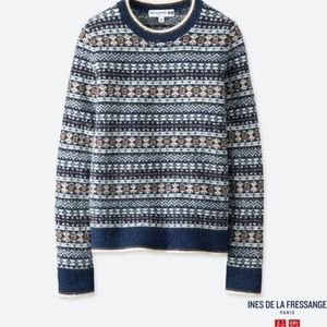 Uniqlo Ines De La Fressange Fair Isle Crew Sweater
